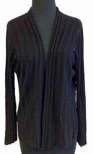 Sigrid Olsen Striped Rayon Long Sleeve Open Front Cardigan O838 Sweater