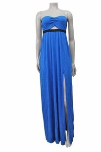 Blue Maxi Dress by Silence + Noise Strapless