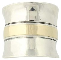 Silpada Silpada Cuff Ring Sterling Silver 9k Gold Overlay R1810 Chunky Statement
