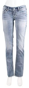 Silver Jeans Co. Lucky Brand Miss Me Boot Cut Jeans-Distressed