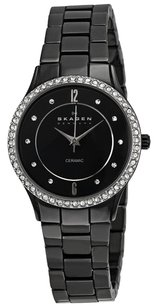 Skagen Denmark 347SBXBC SKAGEN Denmark Black Ceramic Glitz Ladies Watch
