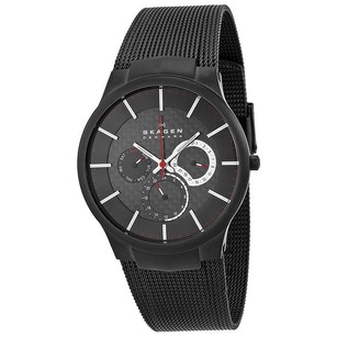 Skagen Denmark Skagen Black Titanium Multifunction Mens Watch 809xltbb