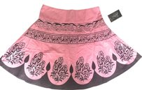 SOHO CLOTHING COMPANY Mini Skirt PInk & Brown