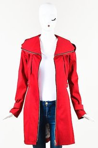 Soia & Kyo Cherry Cotton Red Jacket