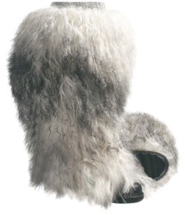 Sorel Mongolian Furry white multi Boots