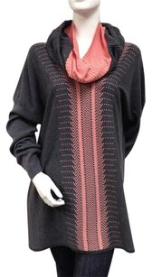 SPANNER Pink Grey Tunic Sweater