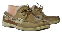Sperry Top Sider Womens Boat Color Block Brown Flats