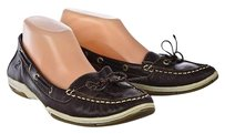 Sperry Top Sider Womens Leather 9m Solid Brown Flats