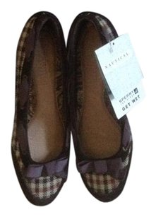 Sperry brown plaid Flats