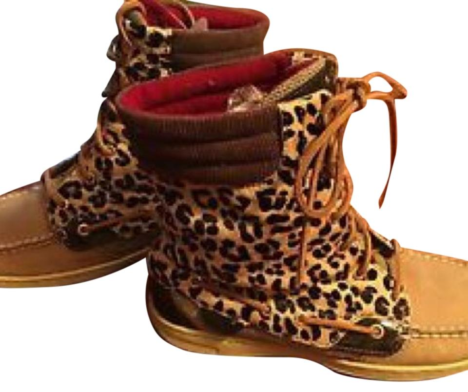 002584acccfe Sperry Leopard Topsider Hikerfish Boots Booties Boots Booties Boots Booties Size  US 6.5 Regular (M