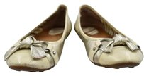 Sperry Top Sider Womens Metallic Round Toe Light Gold Flats