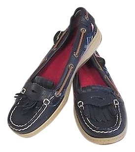 Sperry Loafers Moccasins Blue Flats