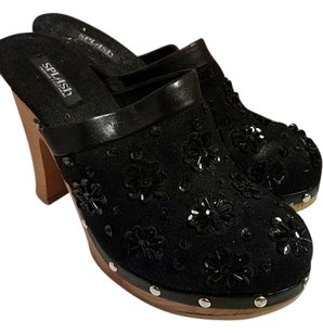 Splash Black Wedges