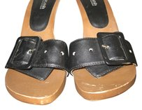 Splash Heels Hi 9 black and brown Mules