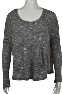 Splendid Womens Speckled Scoop Neck Long Sleeve Shirt Sweater
