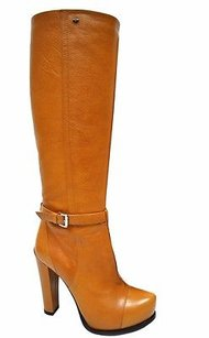 Sportmax Caramel Brown Buckle Browns Boots
