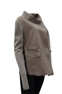 Sportmax Nwd Code Taupe Soft Leather Knit Sleeve 130426mm grey Jacket