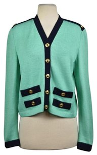 St. John Collection Womens Color Block Cardigan Sweater