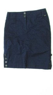 St. John John Designer Casual Straight Pencil Skirt Navy
