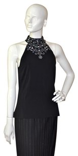 St. John Pearls Swarovski Top Black