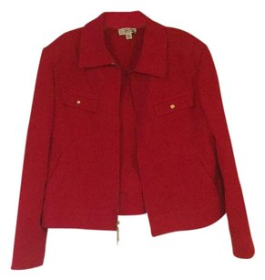 St. John Red Womens Jean Jacket