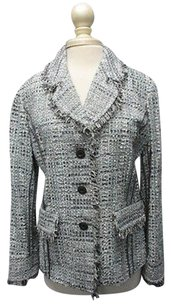 St. John St. John Ice Multi Long Sleeves Button Lined Texture Blazer Sma12039