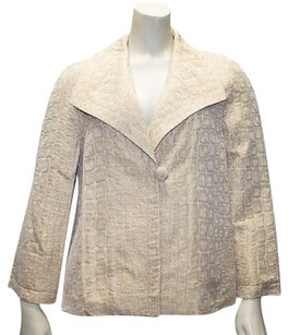 St. John St. John Collection Gold Cotton Blend Button Front Jacket Hs38