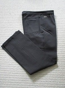 St. John Sport Black Solid Casual Straight Leg Jeans