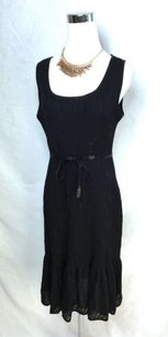 St. John short dress Black Knit Sequined Belted on Tradesy
