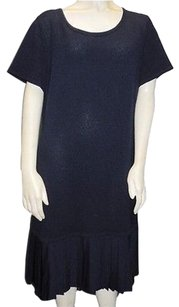 St. John short dress Blue Sport Navy Wool Blend on Tradesy