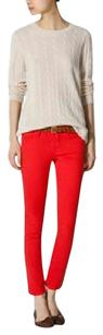 St. John Leggings Cargo Dior Max Mara Trouser Pants Red & Gold