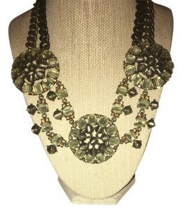 Stella & Dot Stella & Dot Green Stone Necklace