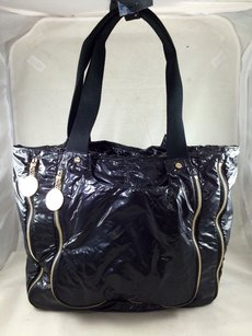 Stella McCartney Faux Patent Tote in Black