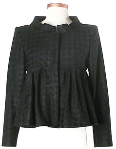 Stella McCartney Lana Wool Jacquard Houndstooth Black Jacket