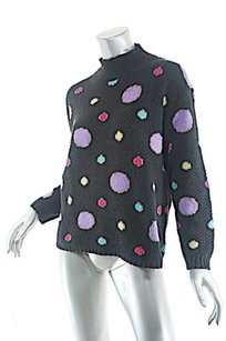 Patricia Roberts Charcoal Multi Pattern 100 Cardigan