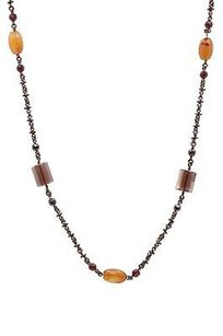Stephen Dweck Stephen Dweck Bronze Smoky Quartz Gemstone Bead Necklace