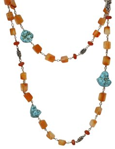 Stephen Dweck Stephen Dweck Long Fluorite, Agate & Turquoise Necklace