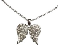 sterling silver and Cubic zirconia angel wings pendant sterling silver cubic zirconia angel wing pendant