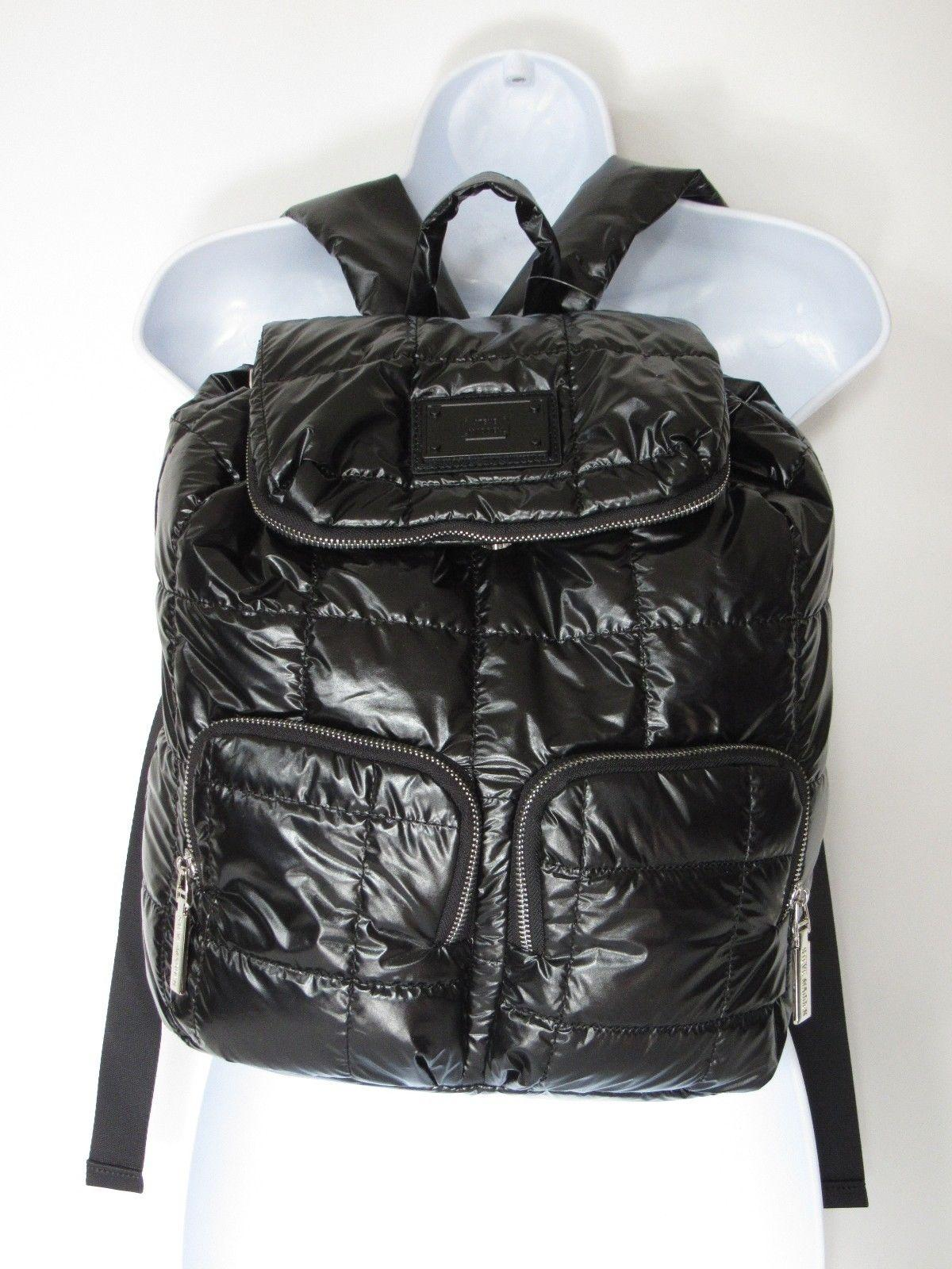 Steve Madden Black Quilted Lightweight Water Resistant