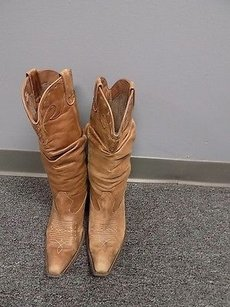 Steve Madden Block Heeled Toe Embroidered Cowboy B3462 Brown Boots