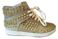 Steve Madden Sparkle Studs Gold Athletic