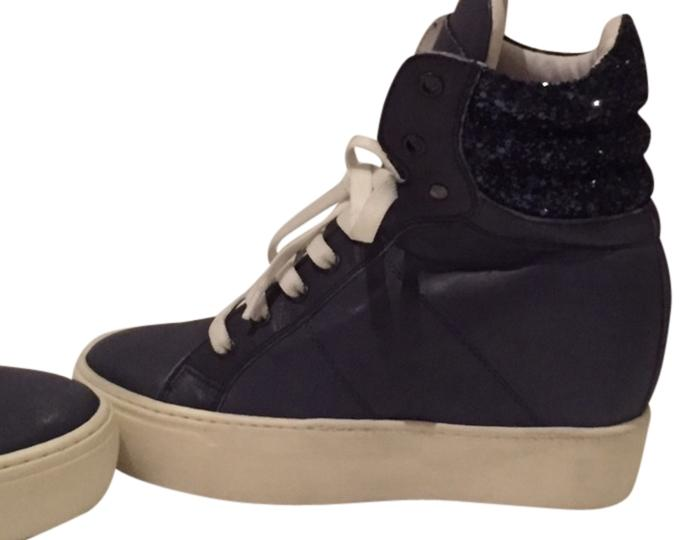 steve madden high top wedge sneakers size 7 athletic shoes