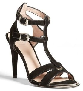Stuart Weitzman Accent T Black Sandals