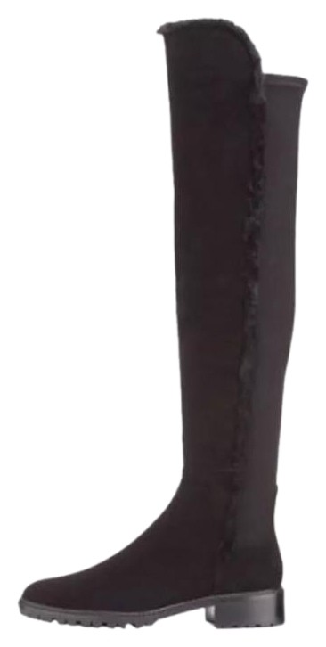 Stuart Weitzman Black New 5050 Parka Suede Over US The Knee Boots/Booties Size US Over 8 Regular (M, B) 670445