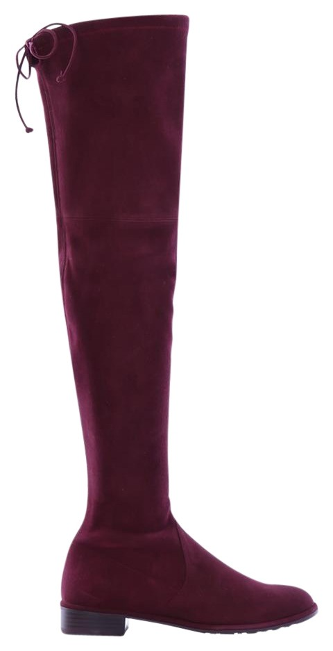 Stuart Weitzman Burgundy Lowland Suede Over The Knee Boots/Booties Size EU 36.5 (Approx. US 6.5) Regular (M, B)