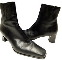 Stuart Weitzman Damsel Leather Ankle N Black Boots