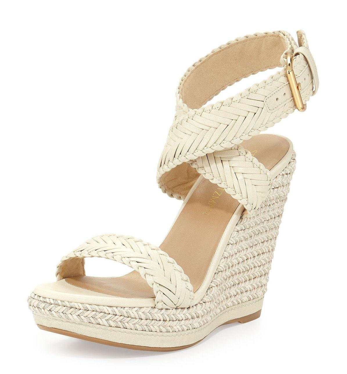 cheap online store Stuart Weitzman Leather Espadrille Sandals quality from china cheap sale clearance cheap sale shopping online ygPZwarav