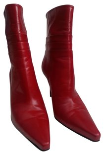 Stuart Weitzman Leather Red Boots