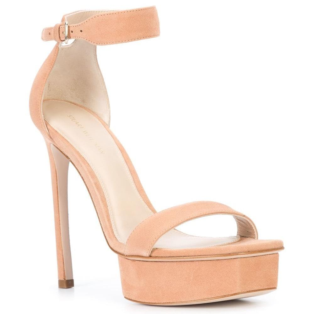 Stuart Weitzman Naked Backupplat Platforms Size US 7 Regular (M, B)