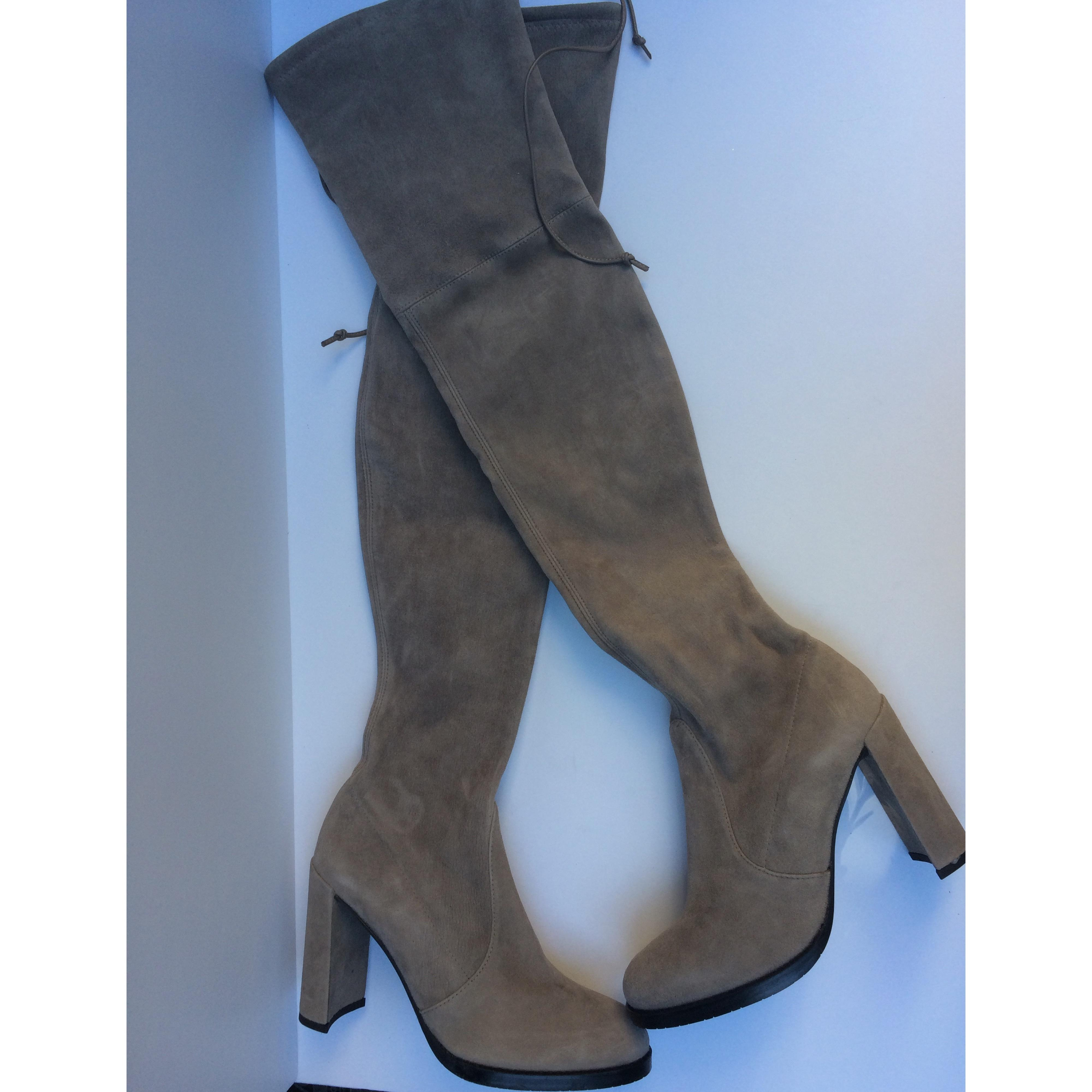 6466e4bfb07a ... Stuart Weitzman New Highland Highland Highland Over The Knee  Boots Booties Size US 6 Regular ...